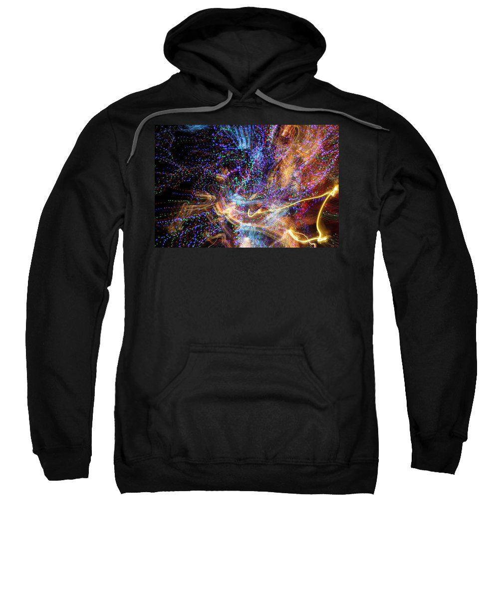 Abstract Sweatshirt featuring the photograph Kapow by Ric Bascobert