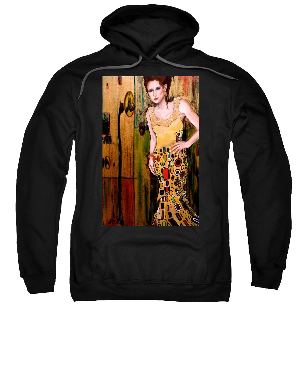 Woman Sweatshirt featuring the painting Kate by Debi Starr