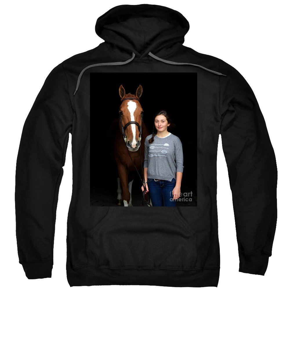 Sweatshirt featuring the photograph Katherine Pal 1 by Life With Horses