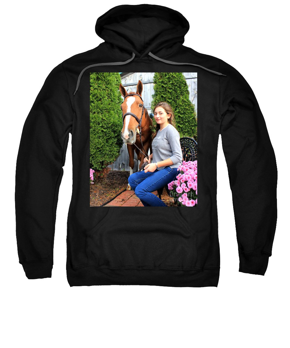 Sweatshirt featuring the photograph Katherine Pal 5 by Life With Horses