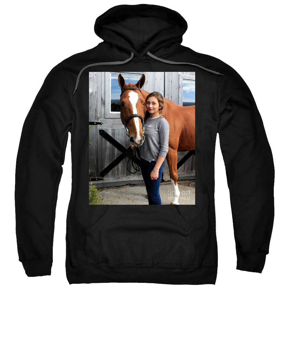 Sweatshirt featuring the photograph Katherine Pal 8 by Life With Horses
