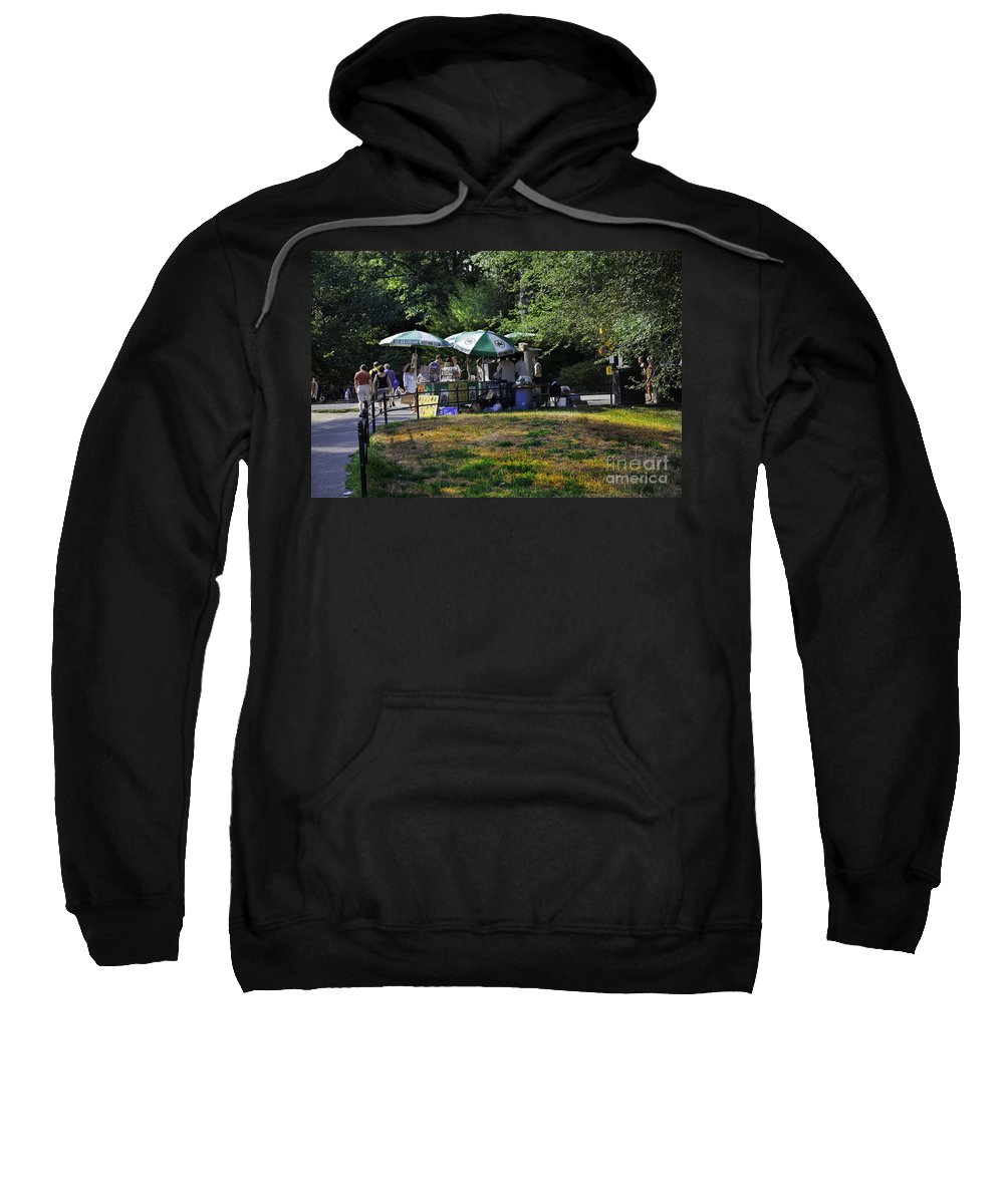 Central Park Sweatshirt featuring the photograph Keep Park Clean by Madeline Ellis