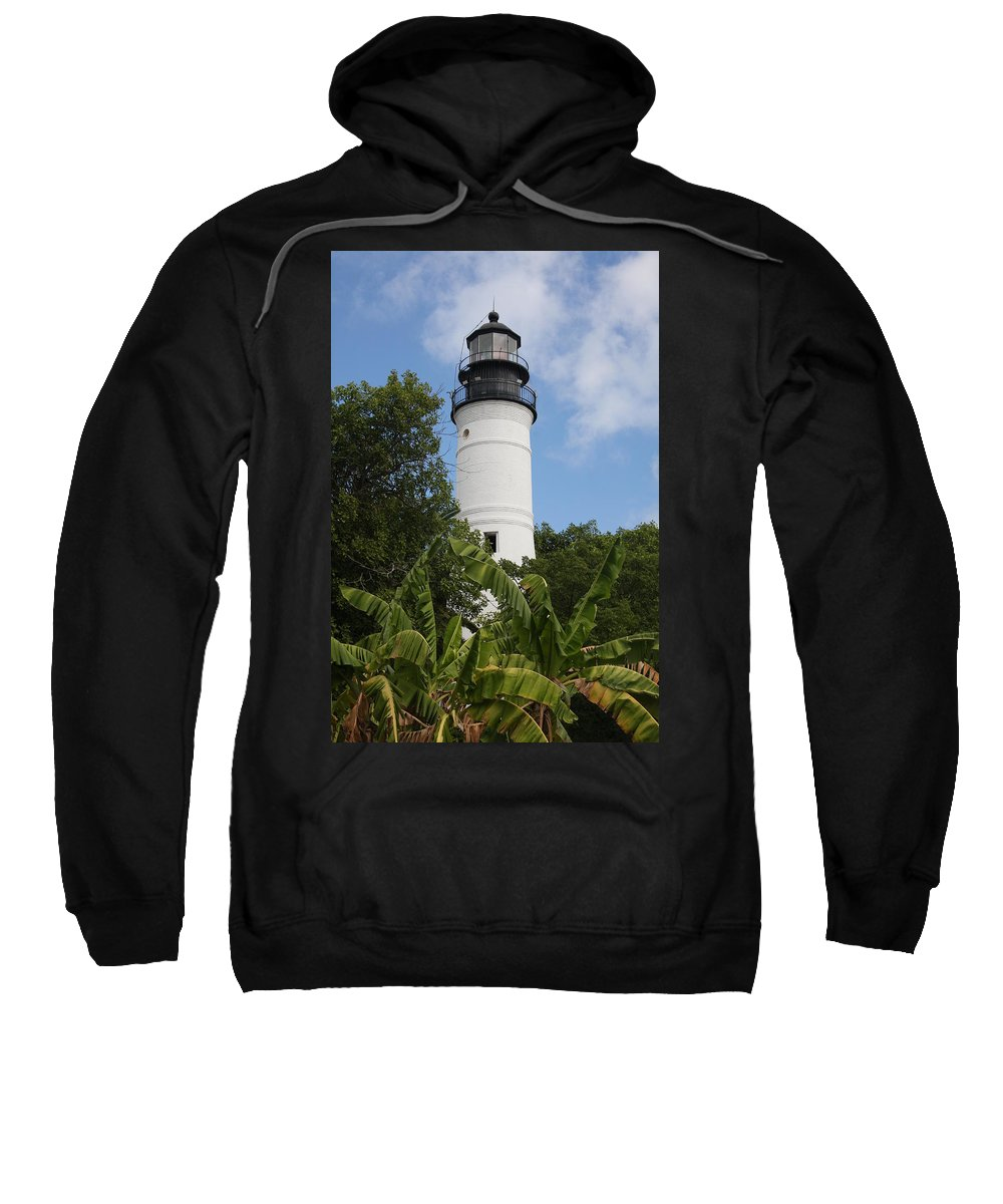 Ligthouse Sweatshirt featuring the photograph Key West Lighthouse by Christiane Schulze Art And Photography
