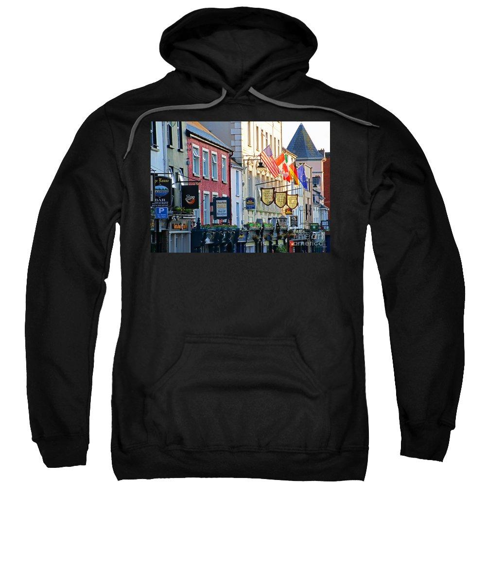 Killarney Sweatshirt featuring the photograph Killarney Ireland Storefronts 7690 by Jack Schultz