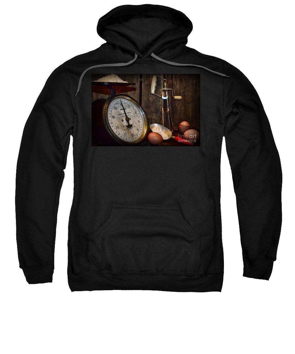 Paul Ward Sweatshirt featuring the photograph Kitchen - The Vintage Baker by Paul Ward