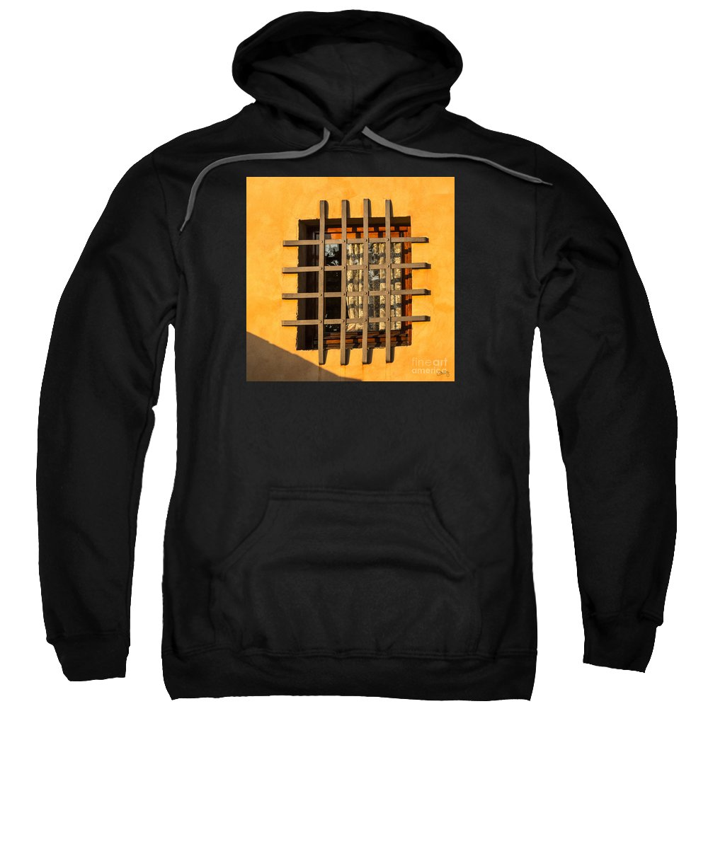 Barred Sweatshirt featuring the photograph Kitchen Window by Prints of Italy