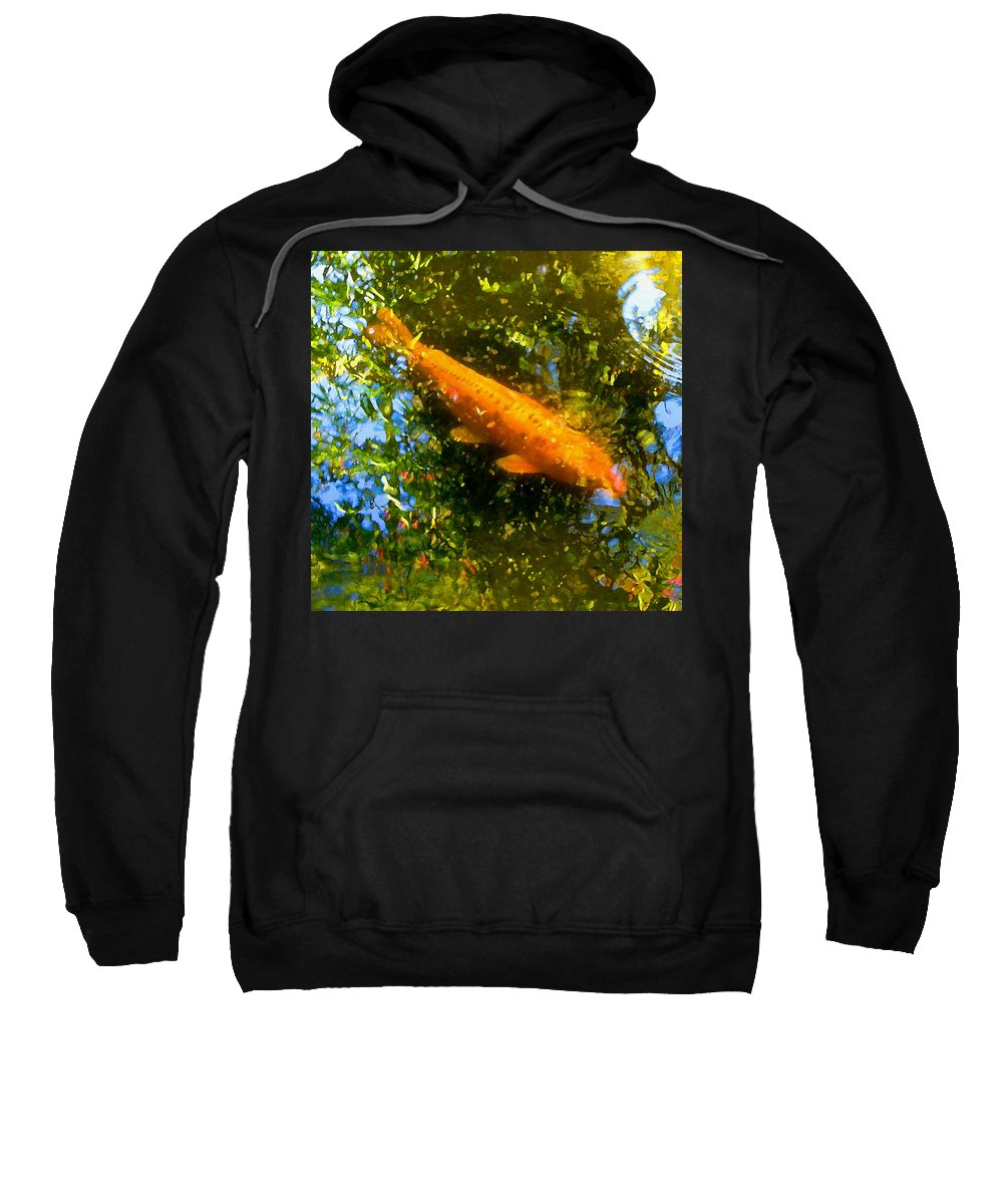 Animal Sweatshirt featuring the painting Koi Fish 1 by Amy Vangsgard
