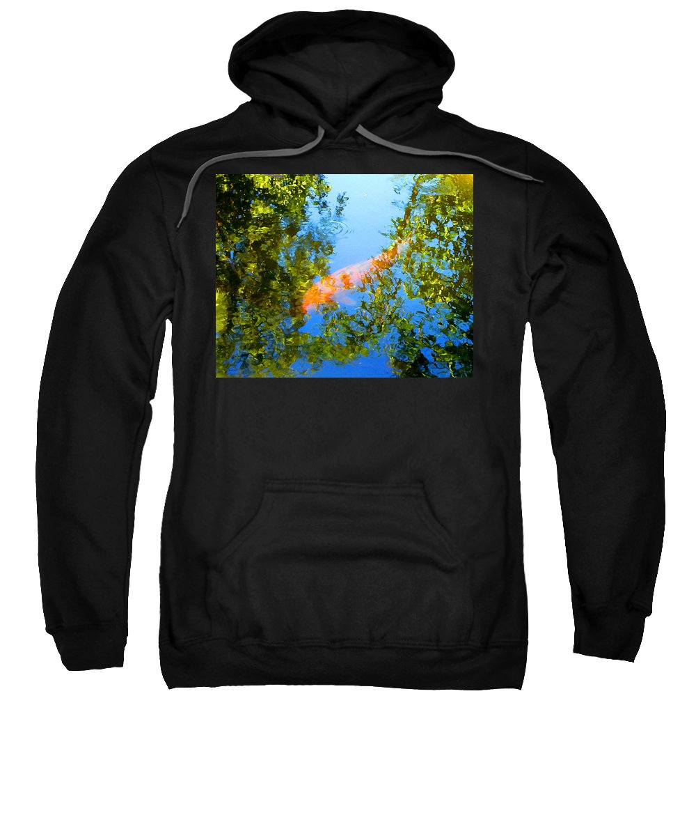 Animal Sweatshirt featuring the painting Koi Fish 3 by Amy Vangsgard