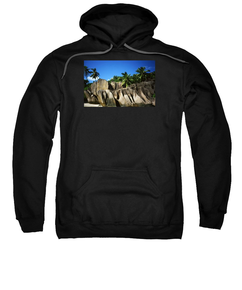 Ocean Sweatshirt featuring the photograph La Digue Island - Seychelles by Juergen Weiss