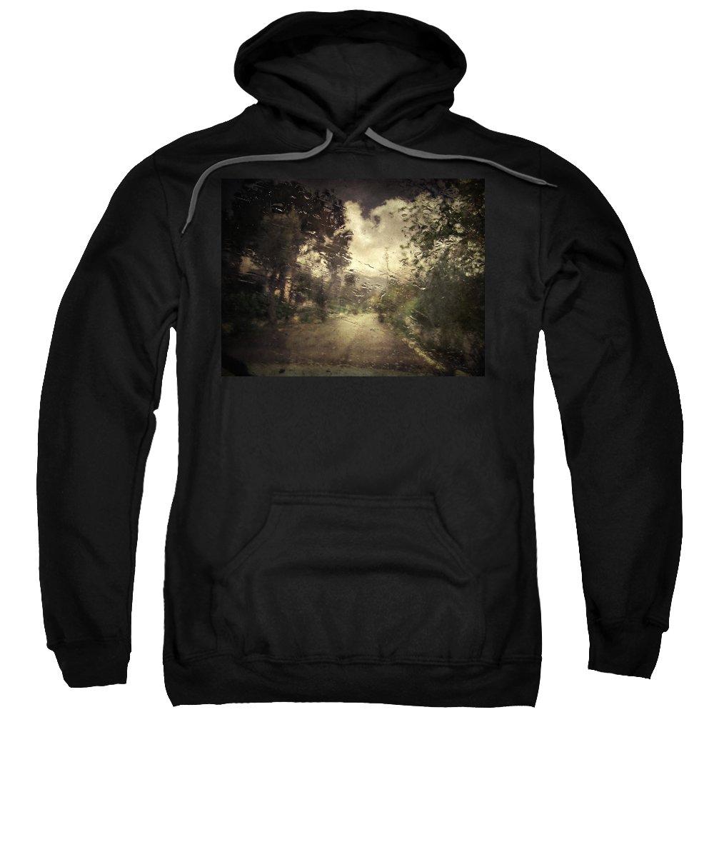 Rain Sweatshirt featuring the photograph La Pluie 4.45 by Zapista