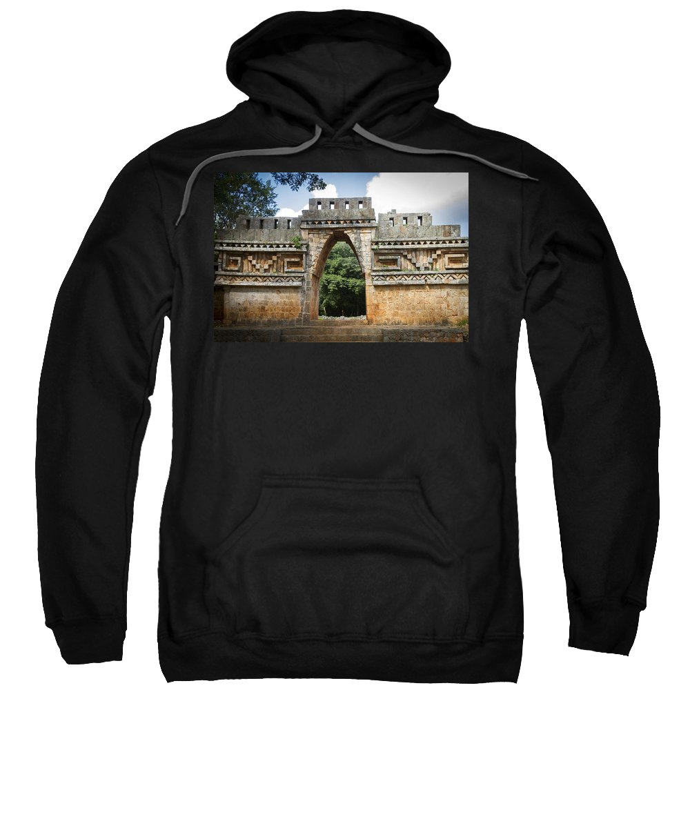 Labná Sweatshirt featuring the photograph Labna Maya Arch by For Ninety One Days