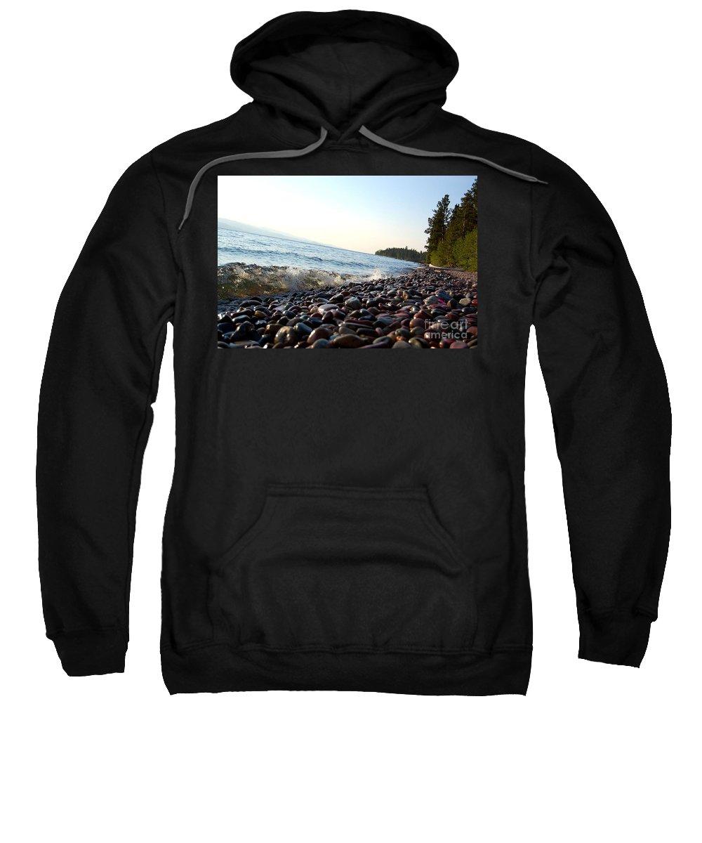 Flathead Sweatshirt featuring the photograph Lake Shore by Tara Ellis