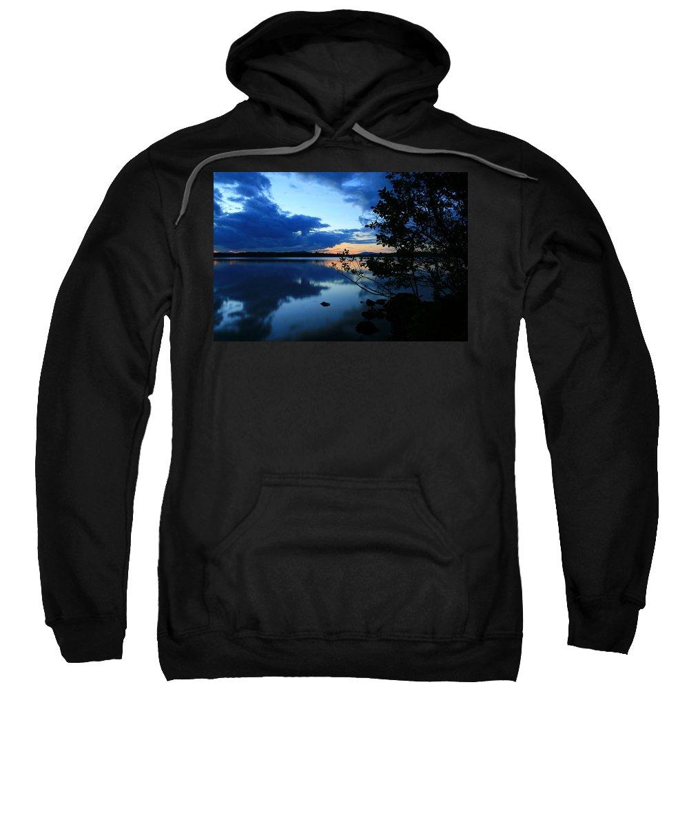 Lake Sunset Sweatshirt featuring the photograph Lake Umbagog Sunset by Neal Eslinger