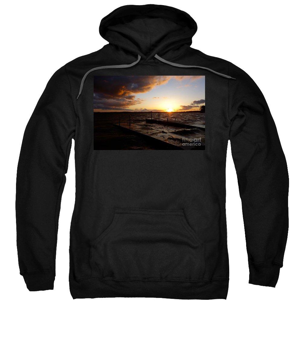 Land Sweatshirt featuring the photograph Lake Waconia Sunset by Jacqueline Athmann