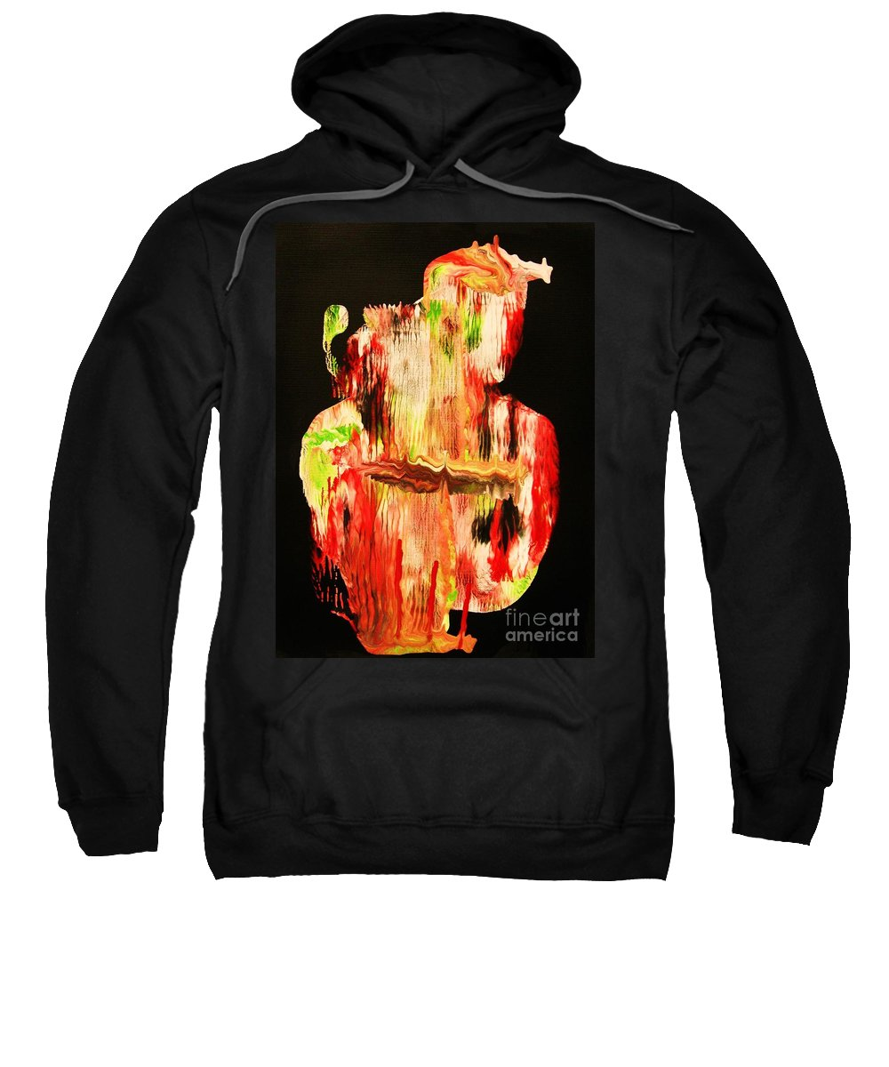 Original Sweatshirt featuring the painting Lakota Sioux Warrior by Roberto Prusso