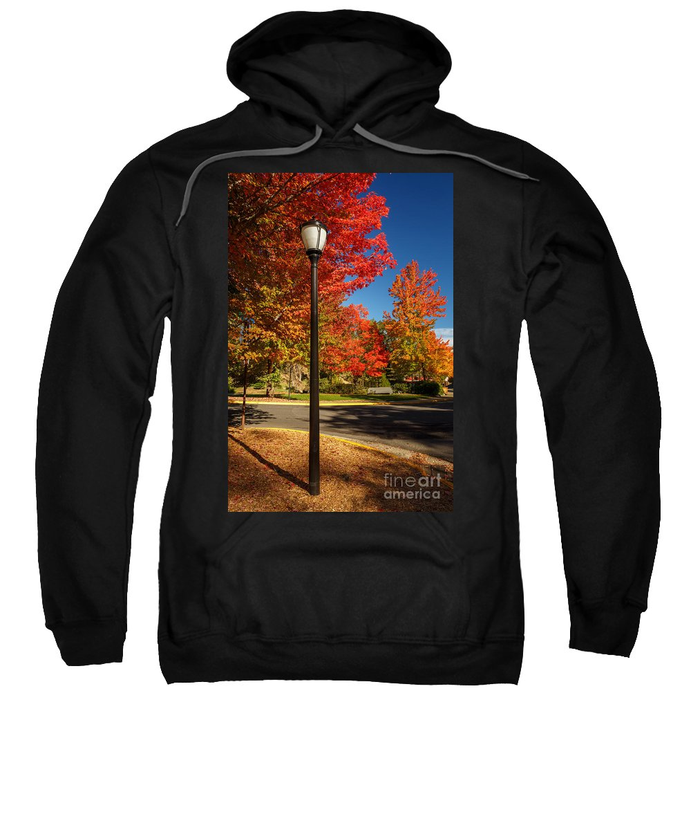 Lamp Post Sweatshirt featuring the photograph Lamp Post On The Corner by James Eddy