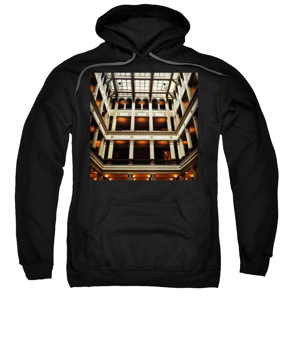 Landmark Sweatshirt featuring the photograph Landmark Prestige by Jana Nyberg