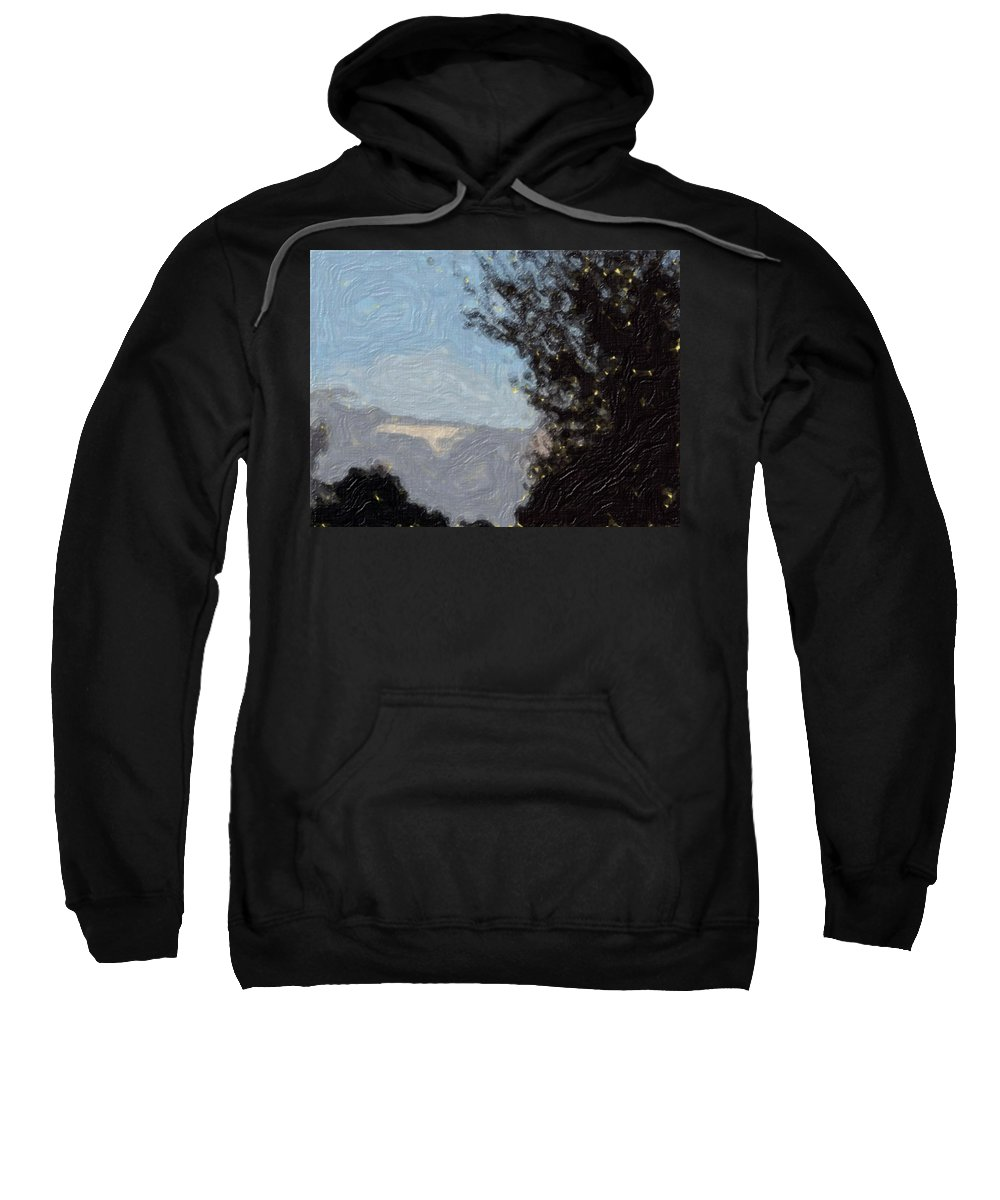 Landscape Sweatshirt featuring the painting Landscape Of Fall by Sergey Bezhinets