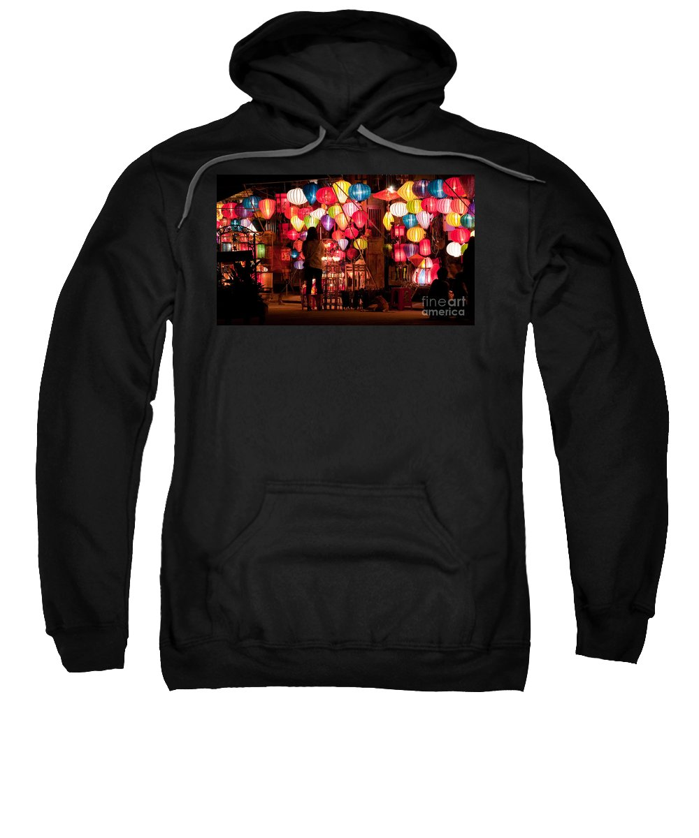 Vietnam Sweatshirt featuring the photograph Lantern Stall 01 by Rick Piper Photography