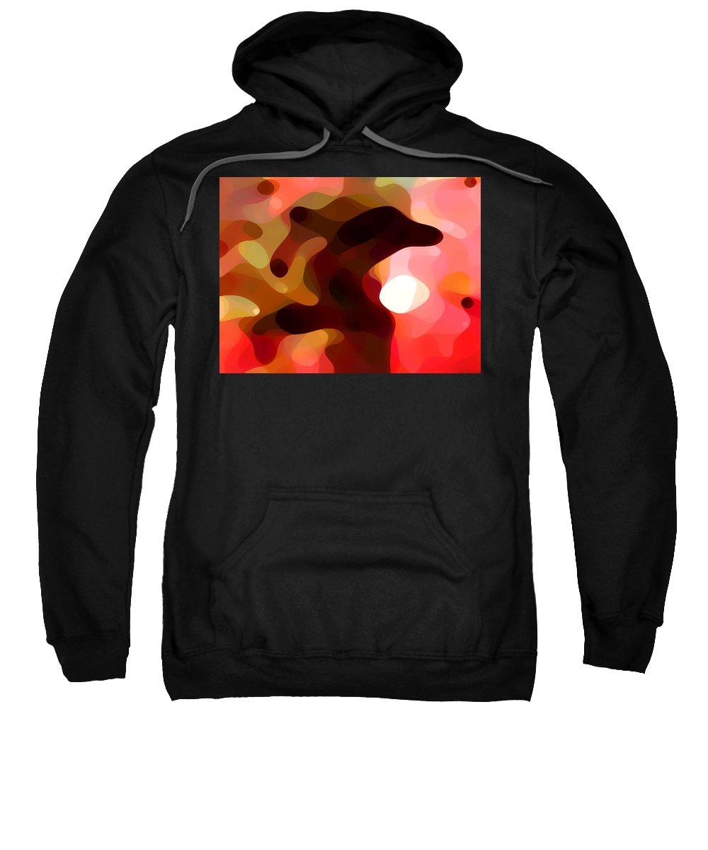 Bold Sweatshirt featuring the painting Las Tunas by Amy Vangsgard