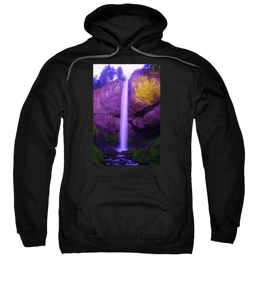 Waterfalls Sweatshirt featuring the photograph Latourall Falls by Jeff Swan