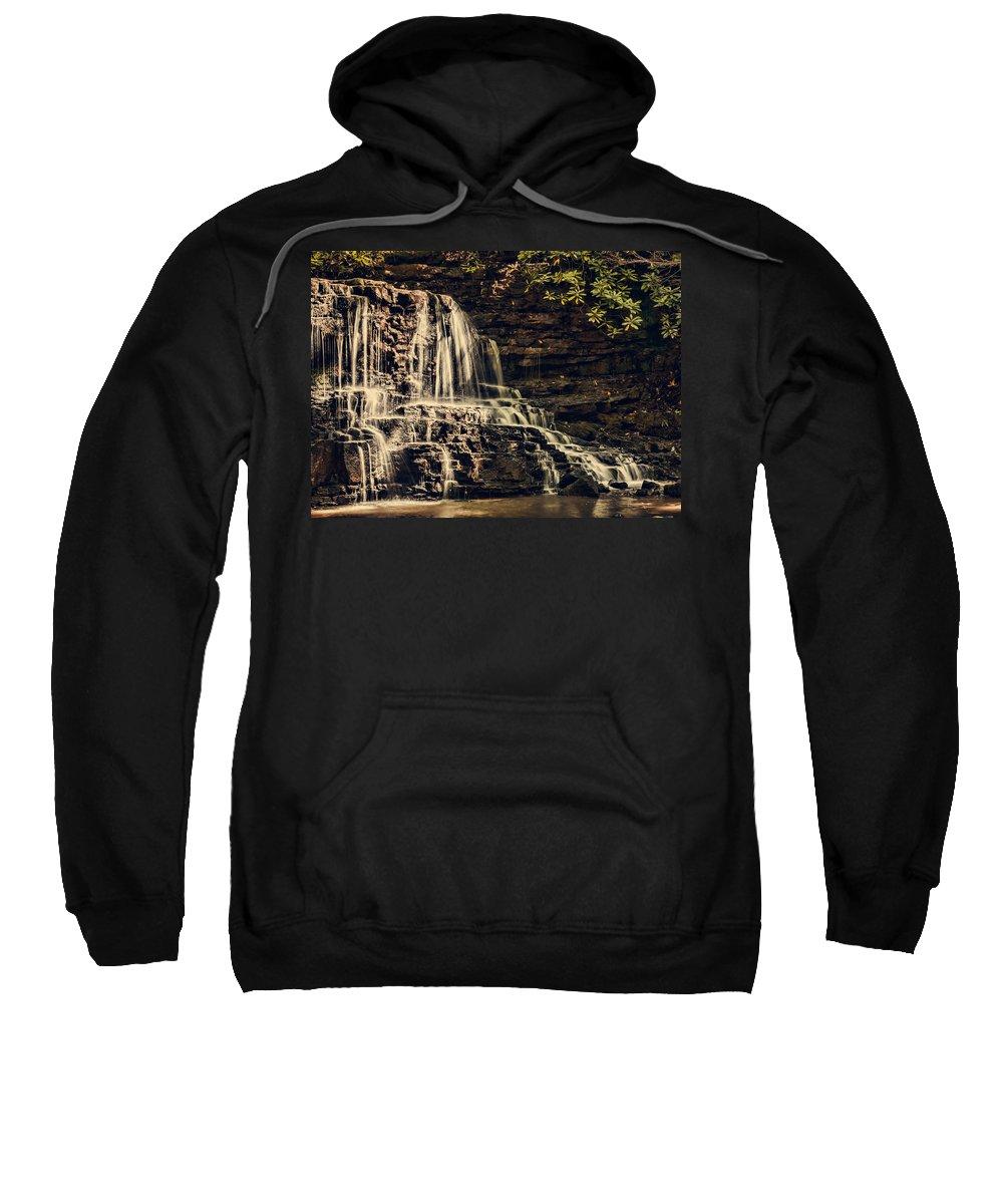 Laurel Run Park Sweatshirt featuring the photograph Laurel Run Falls by Heather Applegate