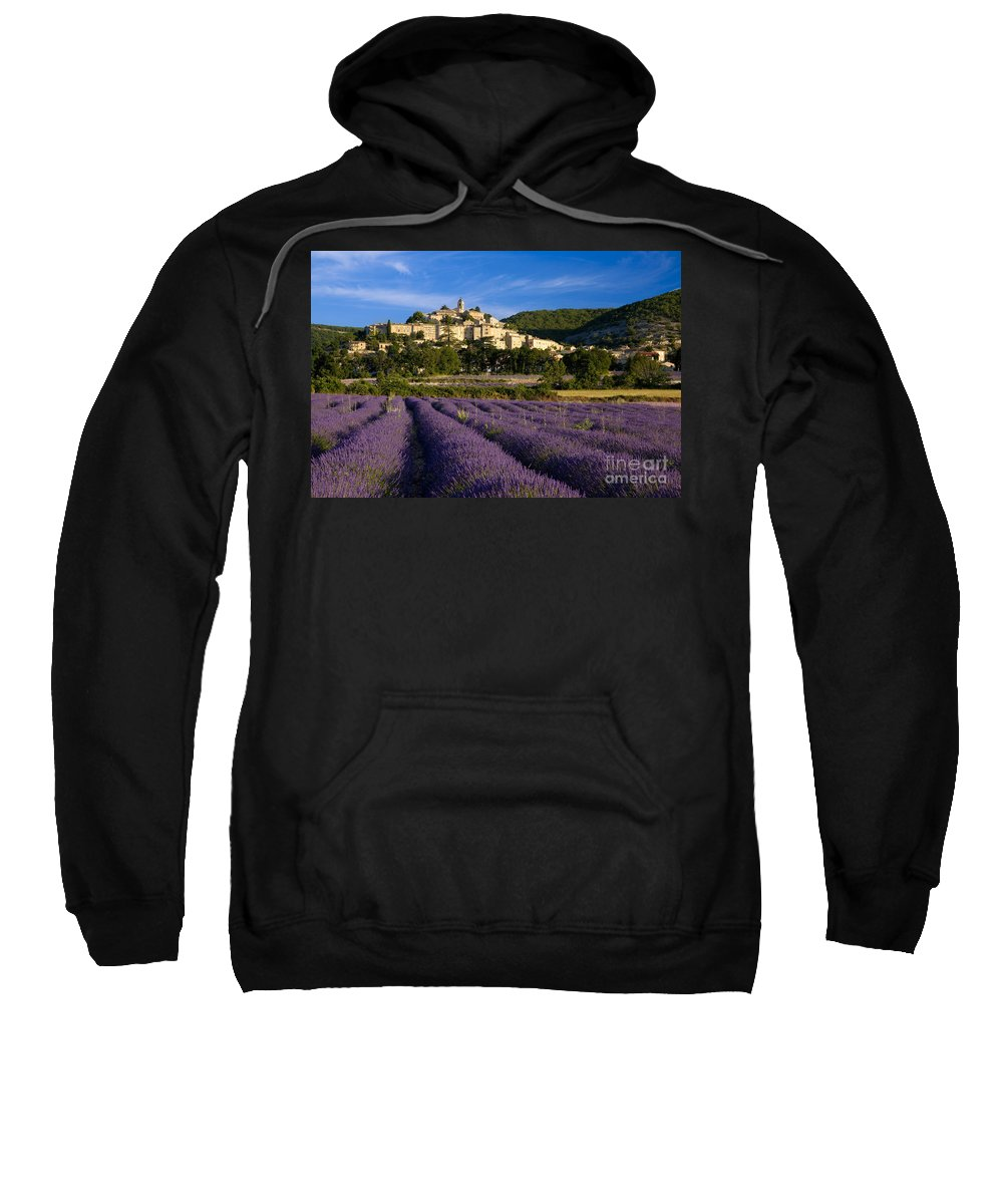 Lavender Sweatshirt featuring the photograph Lavender And Banon by Brian Jannsen