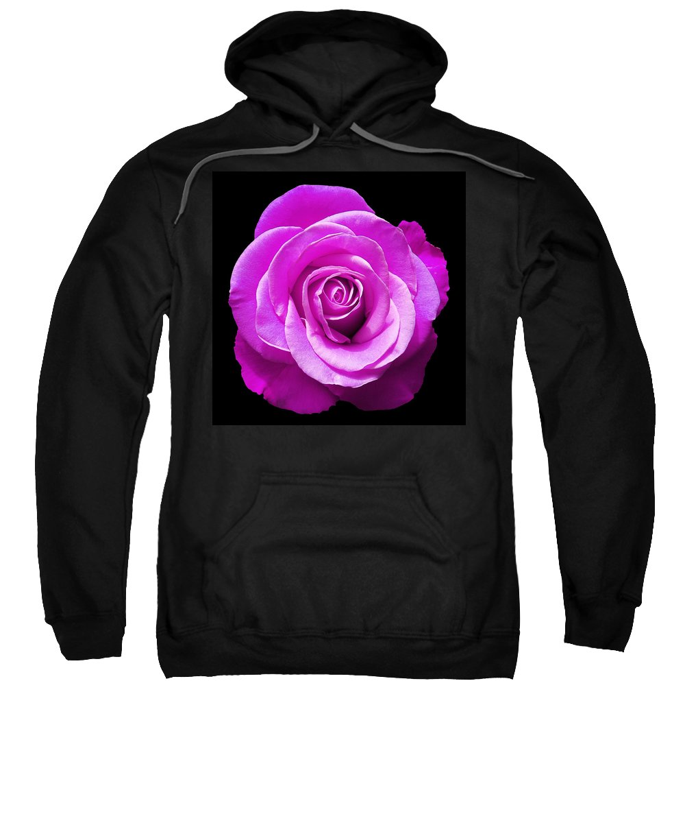 Rose Sweatshirt featuring the photograph Lavender Rose by Aimee L Maher ALM GALLERY