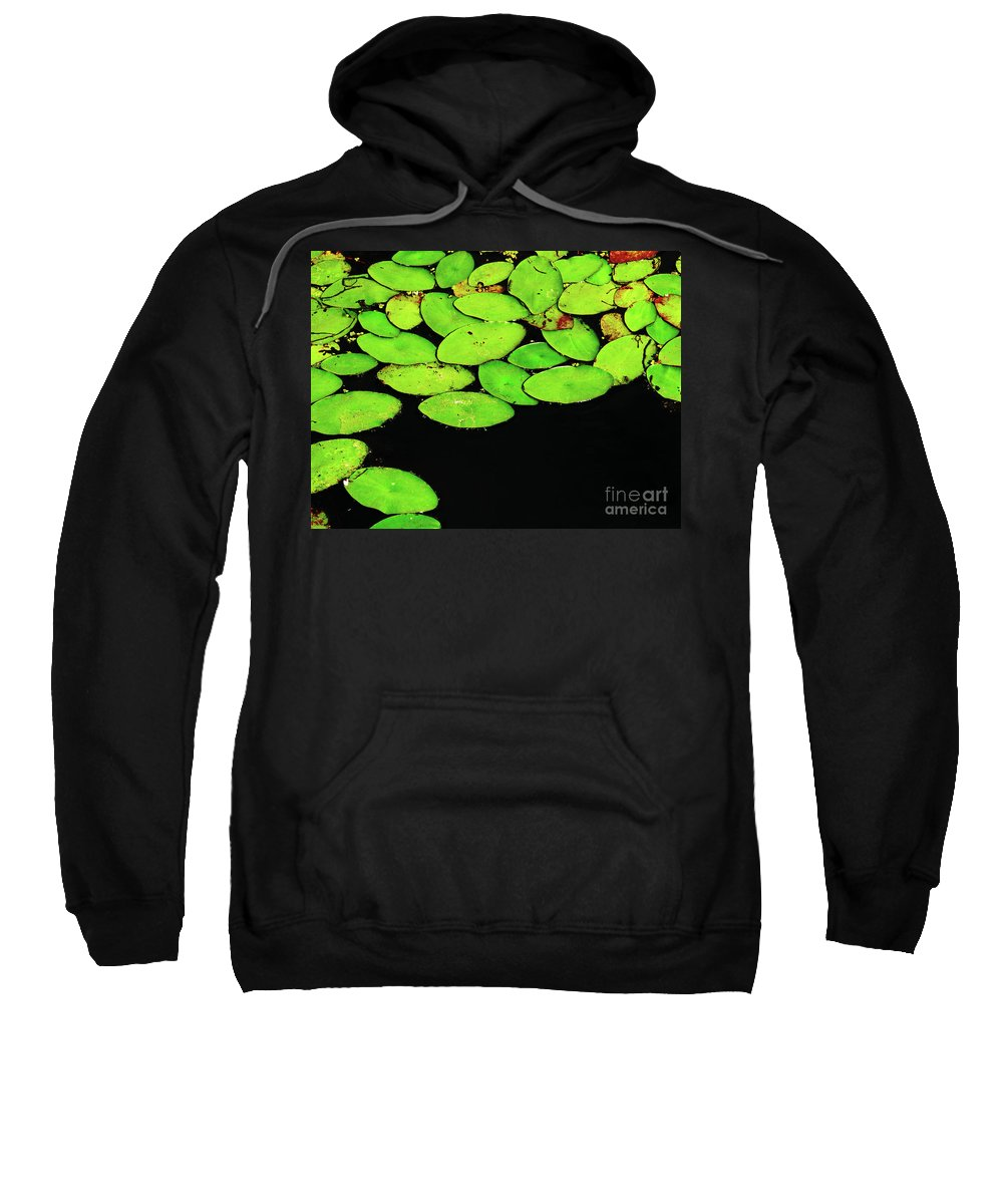 Swamp Sweatshirt featuring the photograph Leafy Swamp by Ann Horn