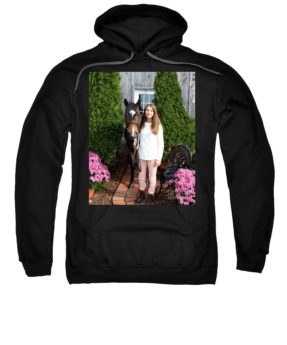 Sweatshirt featuring the photograph Leanna Abbey 2 by Life With Horses
