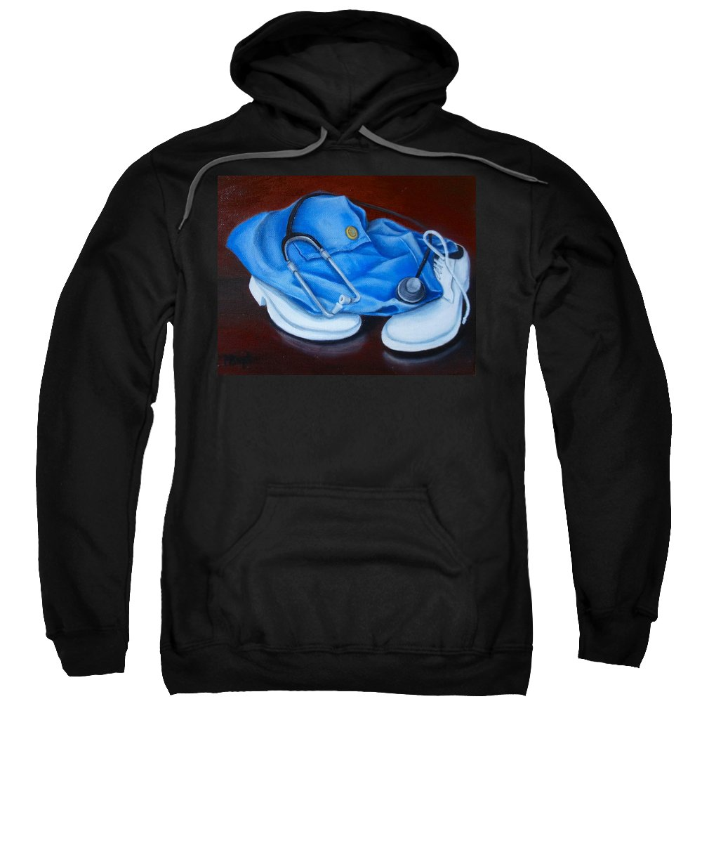 Nurse Sweatshirt featuring the painting Let's Hear It For The Boys by Marlyn Boyd