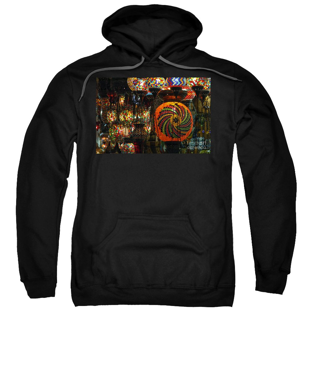 Grand Bazaar Sweatshirt featuring the photograph Light Fixtures by Bob Phillips