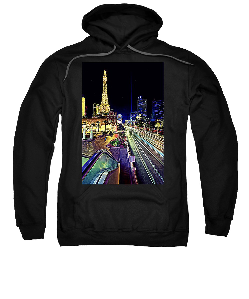 Las Vegas Sweatshirt featuring the photograph Light Speed Vegas by Matt Helm
