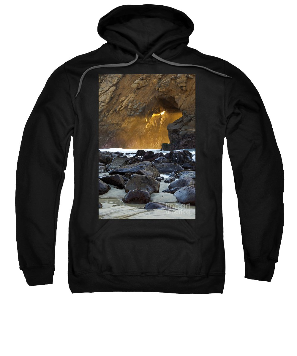 Keyhole Arch Sweatshirt featuring the photograph Light Through The Keyhole Arch by Rick Pisio