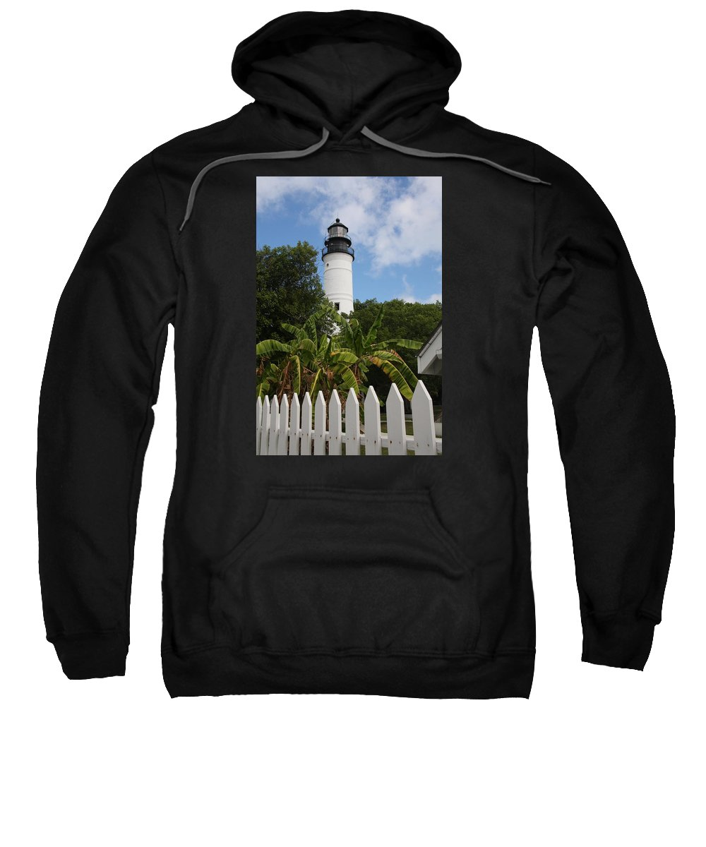 Ligthouse Sweatshirt featuring the photograph A Sailoirs Guide On The Florida Keys by Christiane Schulze Art And Photography