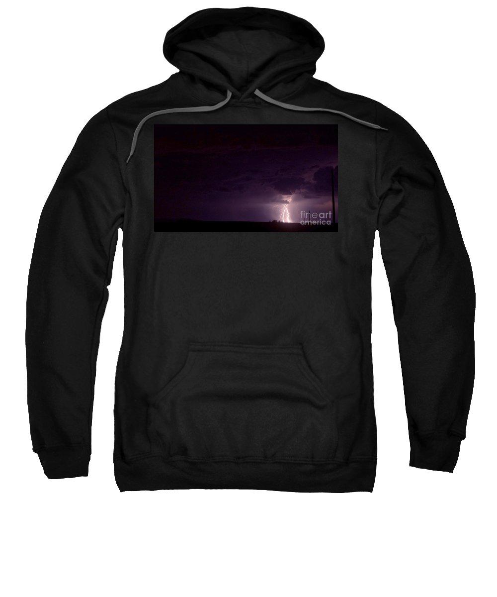 Lightning Sweatshirt featuring the photograph Lightning by Andrea Goodrich