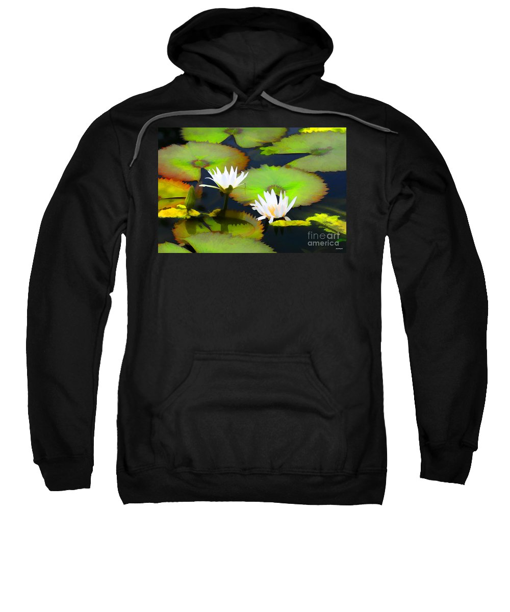 Artistic Photography Sweatshirt featuring the photograph Lily Pond Bristol Rhode Island by Tom Prendergast