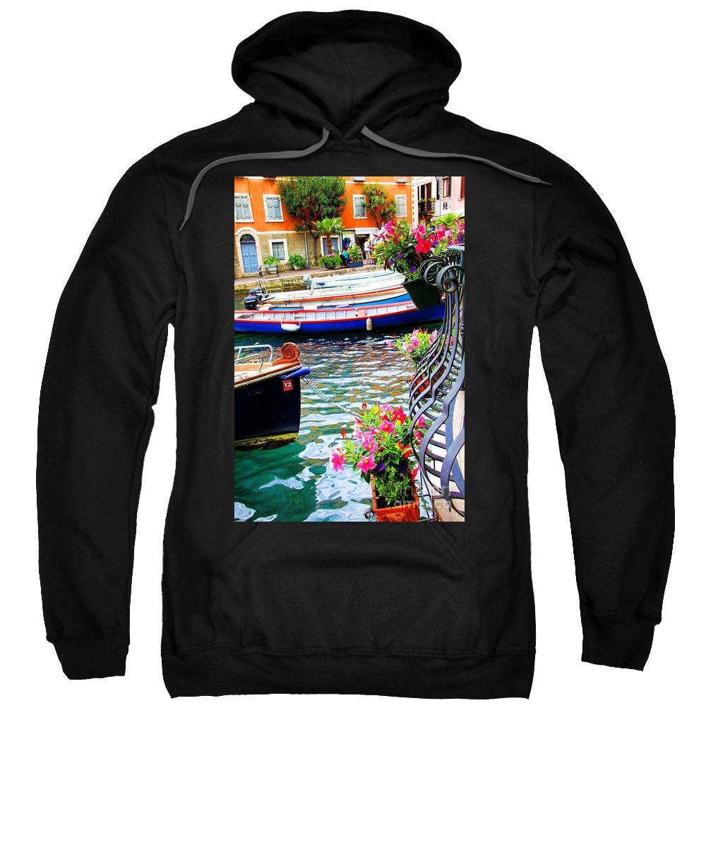 Limone Getaway Sweatshirt featuring the photograph Limone Getaway by Mariola Bitner