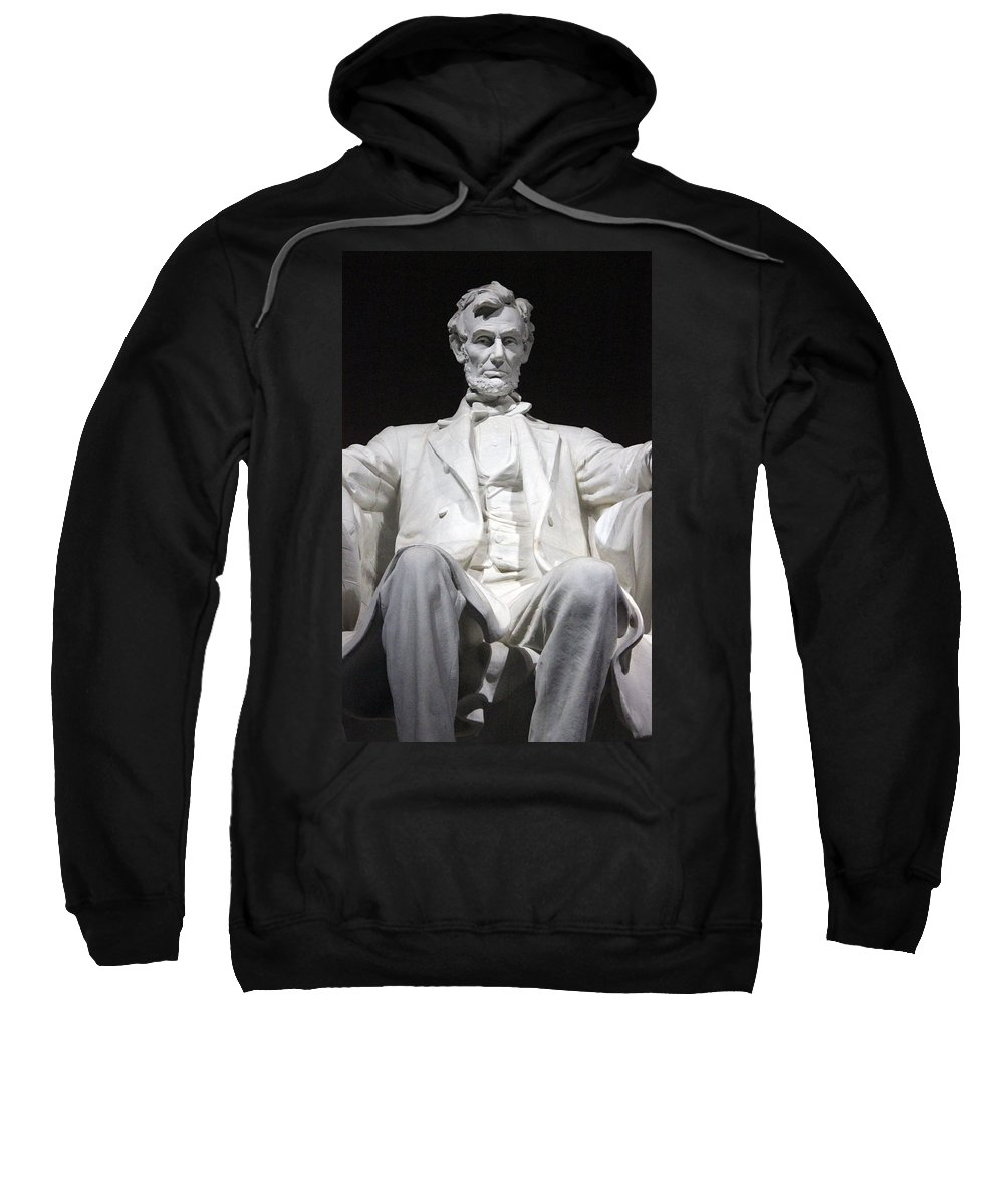 Abraham Lincoln Sweatshirt featuring the photograph Lincoln1 by Carolyn Stagger Cokley