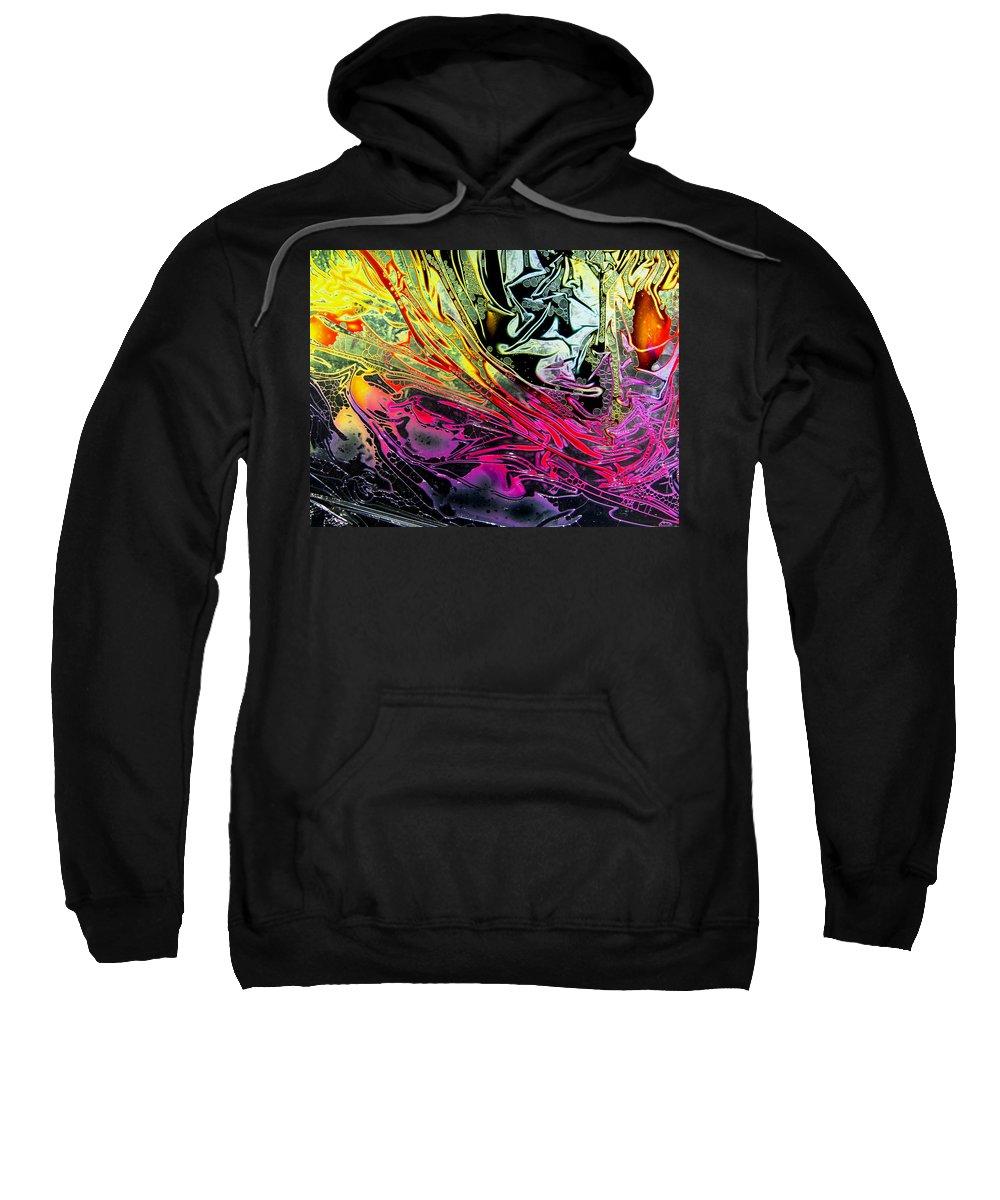 Surrealism Sweatshirt featuring the digital art Liquid Decalcomaniac Desires 1 by Otto Rapp