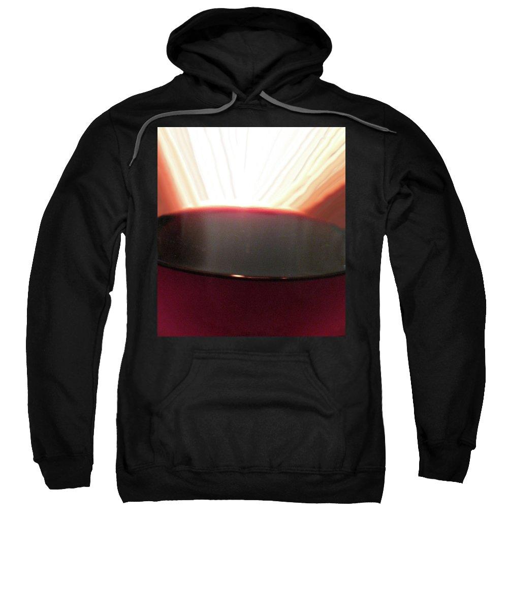 Wine Sweatshirt featuring the photograph Liquid Fire by Ian MacDonald