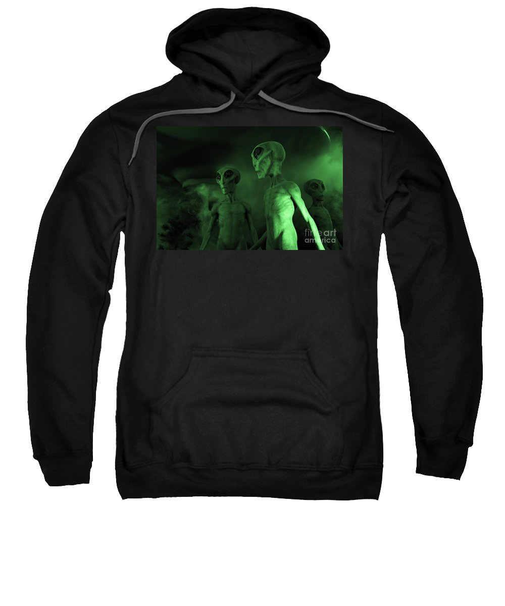 Ufo Sweatshirt featuring the photograph Aliens And Ufo 6 by Bob Christopher