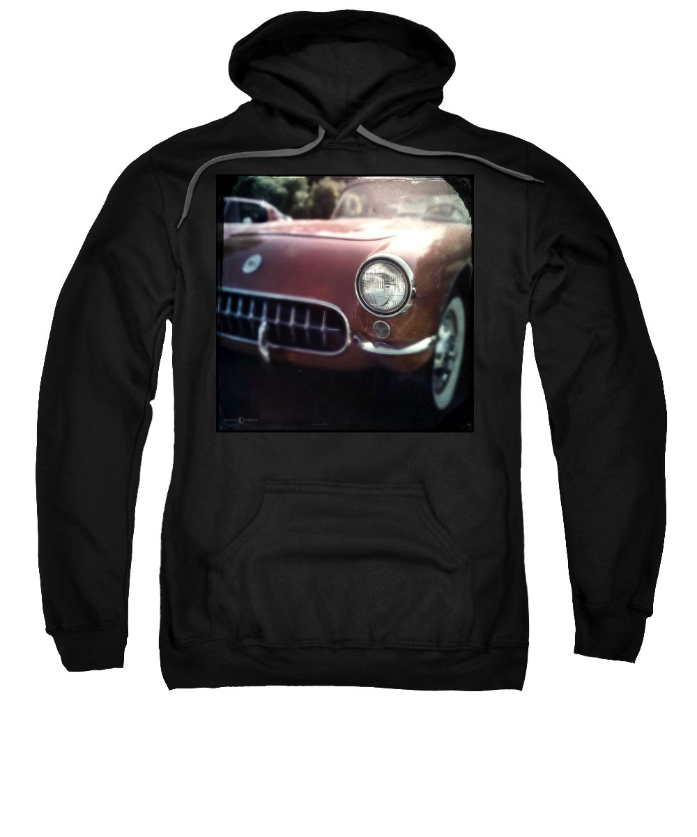 Classic Sweatshirt featuring the photograph Little Red Corvette by Tim Nyberg