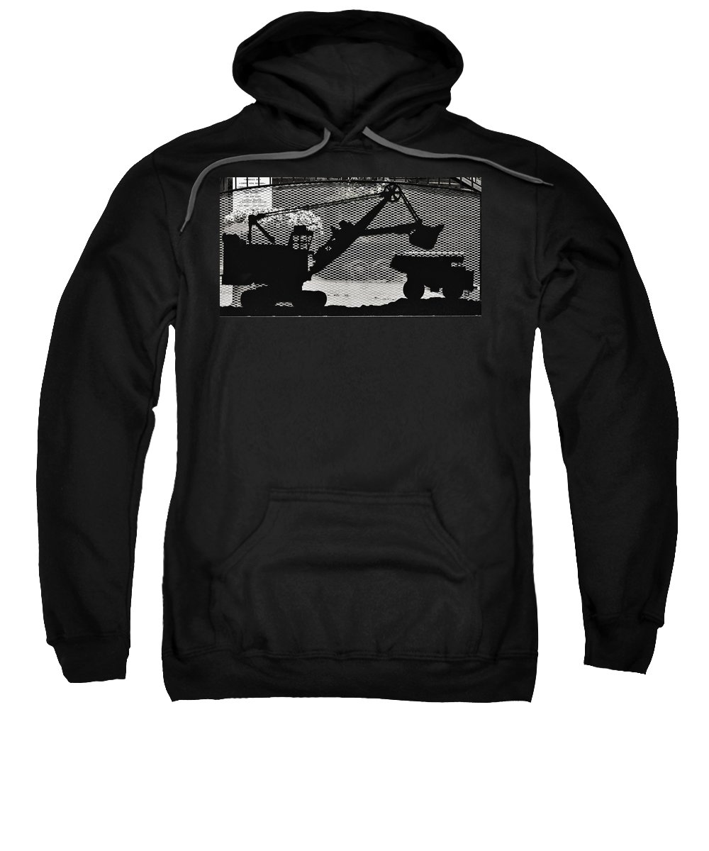 Butte Sweatshirt featuring the photograph Loading The Truck by Image Takers Photography LLC - Carol Haddon