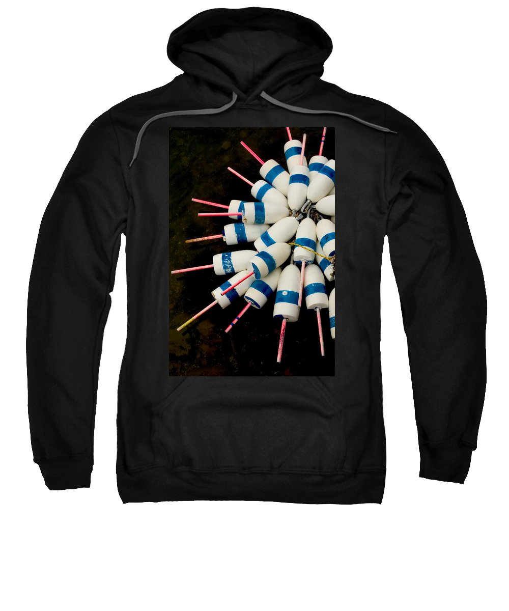 Lobster Trap Sweatshirt featuring the photograph Lobster Trap Bouy Bunch by Brent L Ander