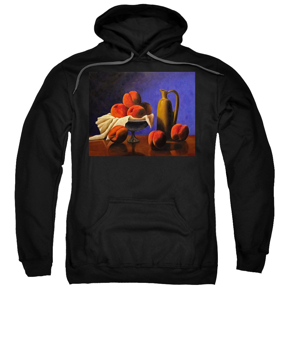 Peaches Sweatshirt featuring the photograph Local Peaches Oil Painting by Michael Saunders
