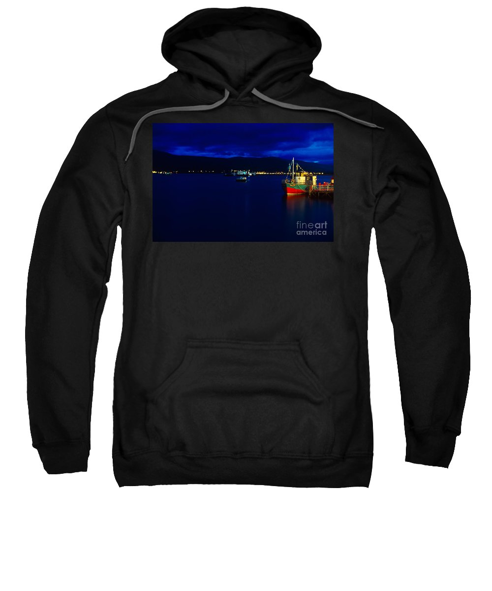 Fort Sweatshirt featuring the photograph Loch Linnhe By Night by Riccardo Mottola