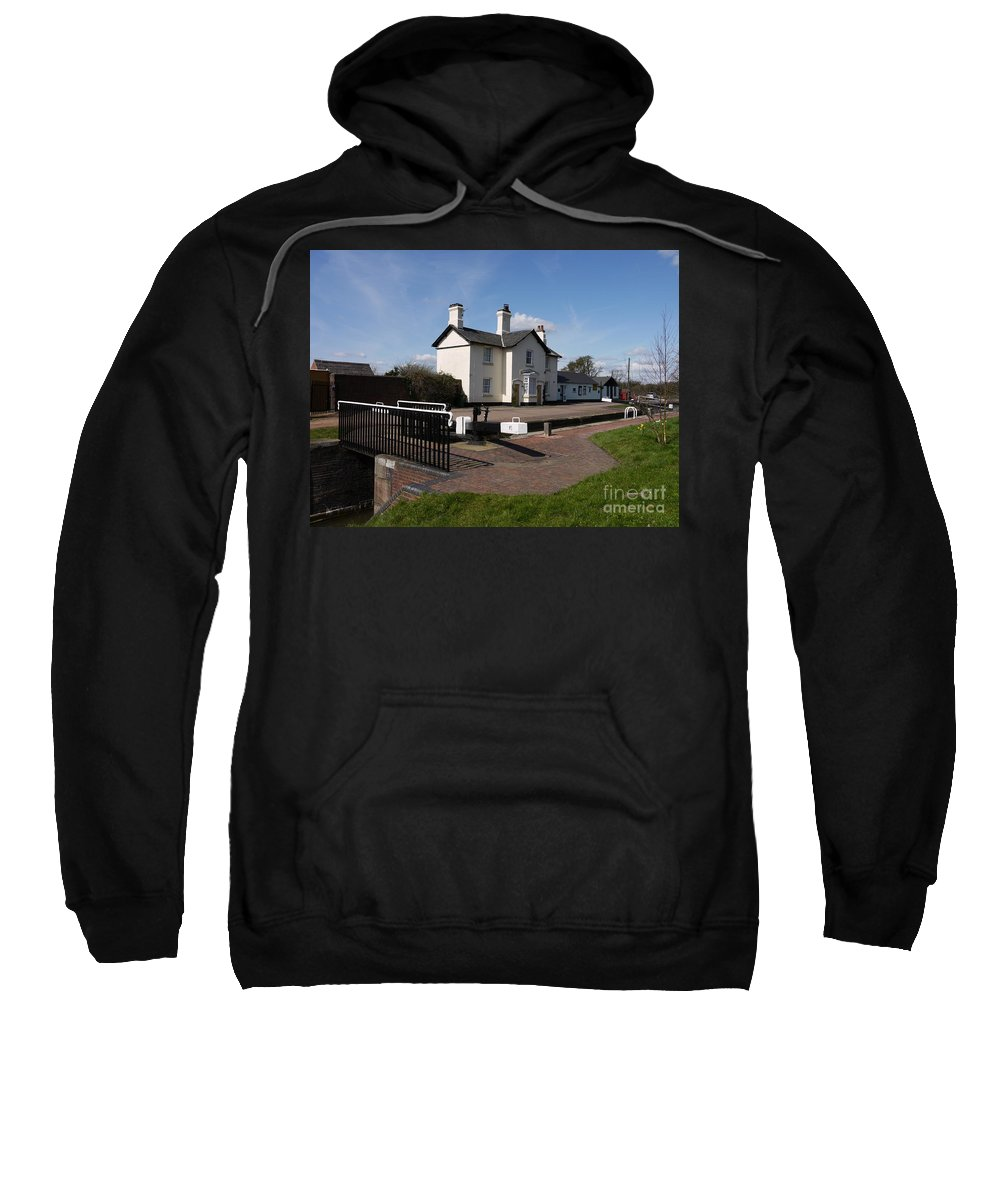 Lock Keepers Cottages Sweatshirt featuring the photograph Lock Cottages by John Chatterley