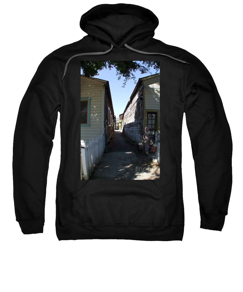 Alley Sweatshirt featuring the photograph Locke Chinatown Series - Back Alley - 6 by Mary Deal