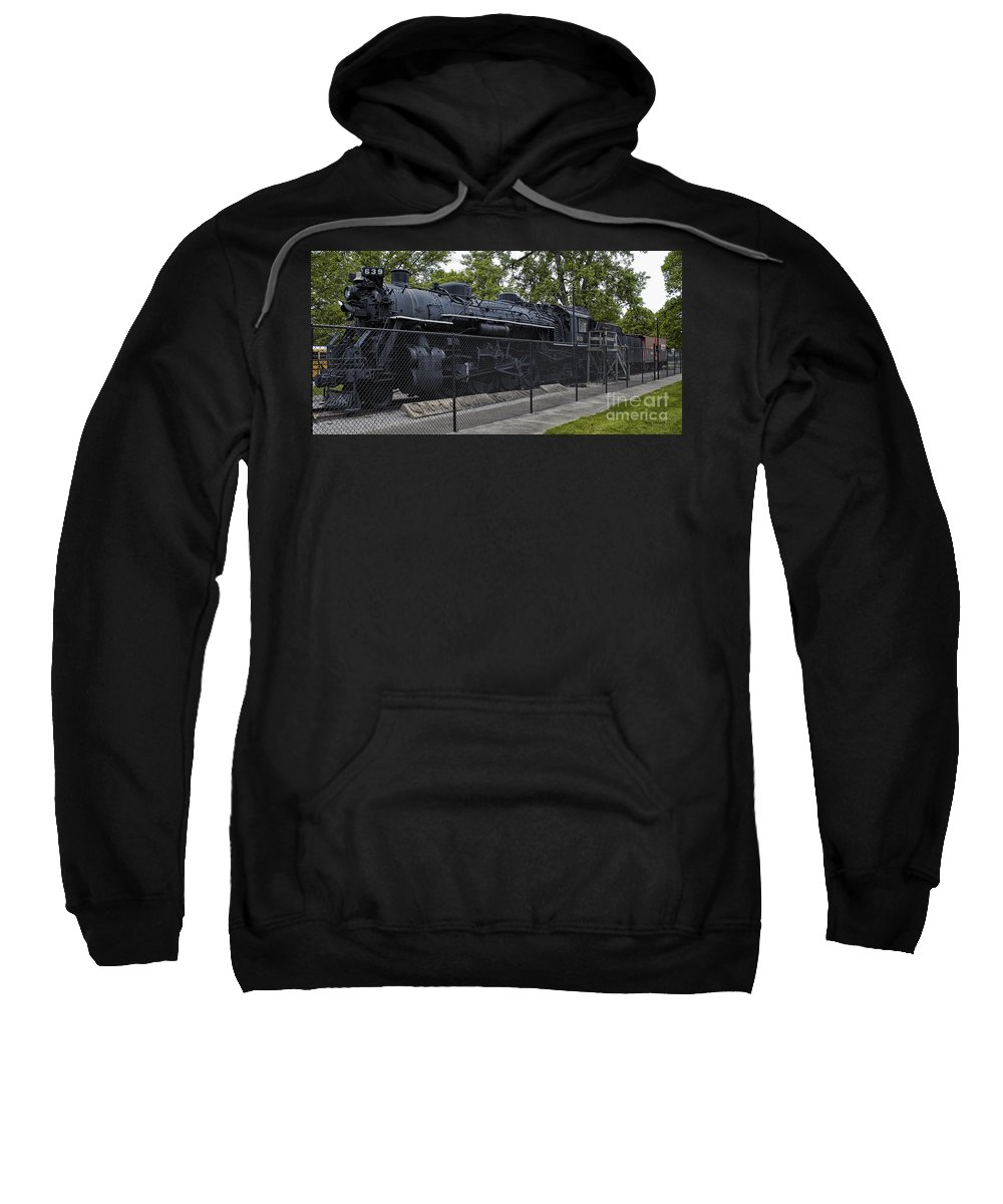 Locomotive Sweatshirt featuring the photograph Locomotive 639 Type 2 8 2 Side View by Thomas Woolworth